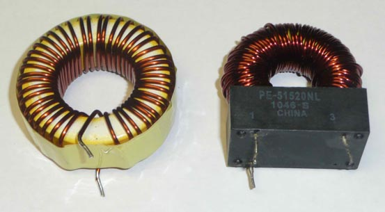 Old (left) and new (right) coils