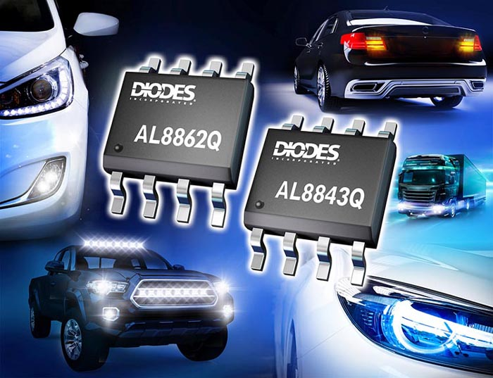 Automotive-Compliant Buck LED Drivers Diodes Incorporated