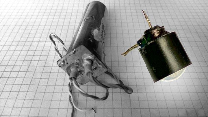 Тубус модифицированного фотоприемника и объектив с подсветкой сенсора.