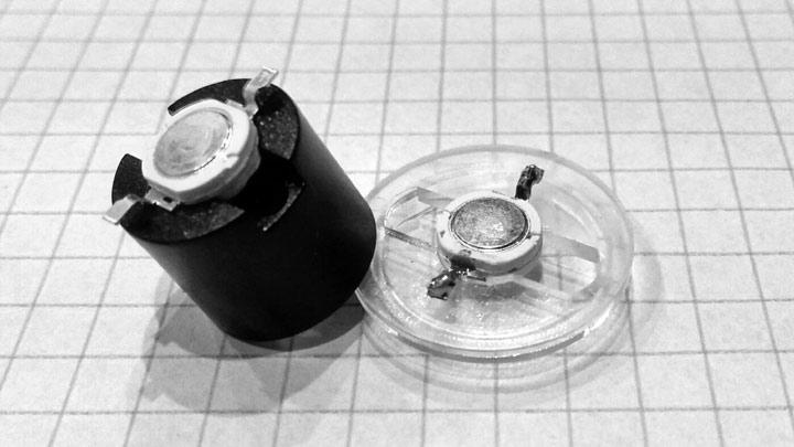Установка светодиода в объектив излучателя.