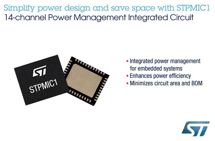 Многоканальная микросхема управления питанием от STMicroelectronics снижает энергопотребление и расходы на компоненты