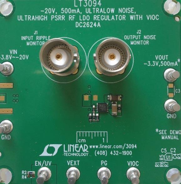 Demo circuit shows a tiny -3.3 V solution.