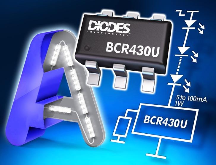 Diodes выпускает линейный драйвер светодиодов с ультранизким падением напряжения