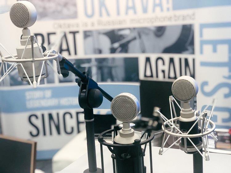 «Октава» представляет новый микрофон на выставке The NAMM Show 2020