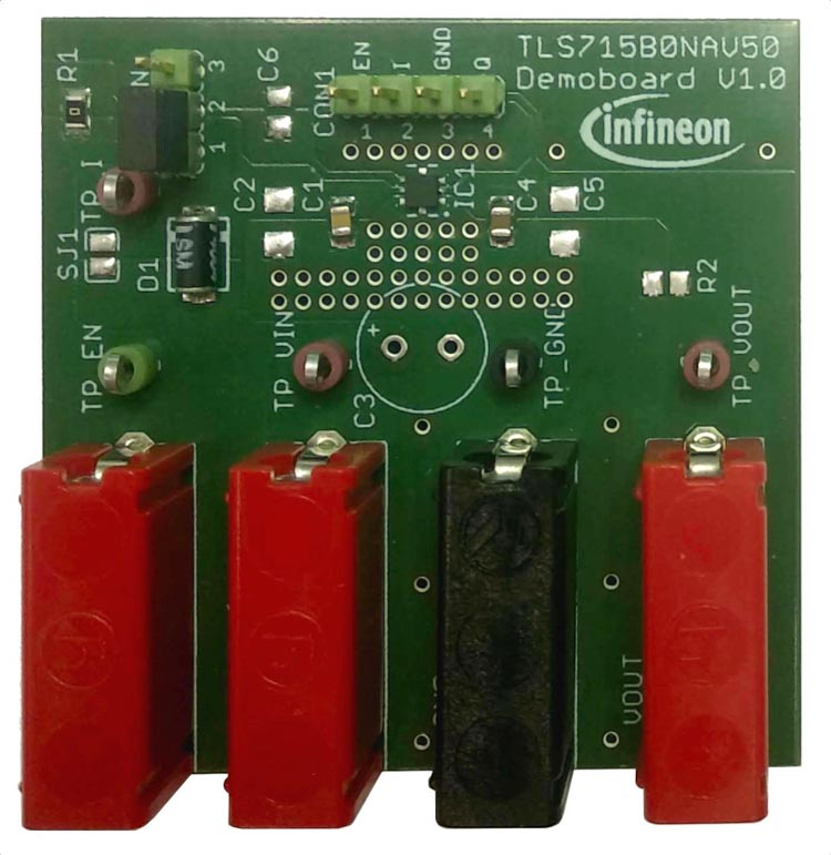 Демонстрационная плата для микросхемы регулятора OPTIREG TLS715B0NAV50
