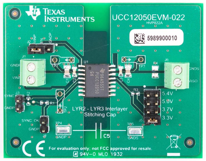 The UCC12050EVM-022 Evaluation Module