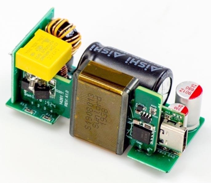Базовый проект 45-ваттного адаптера USB-PD на основе XDPS21071