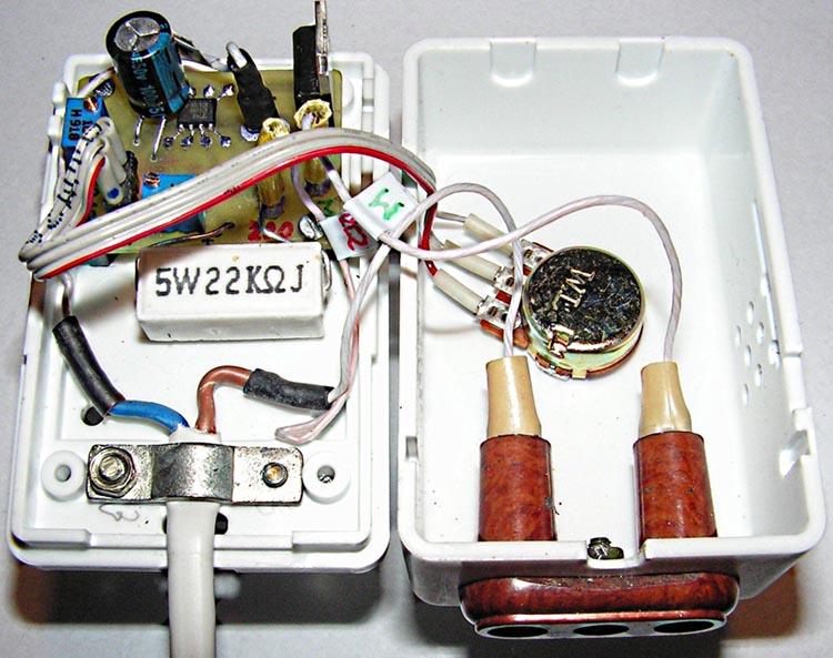 Фотография устройства на базе U2008B (корпус открыт).
