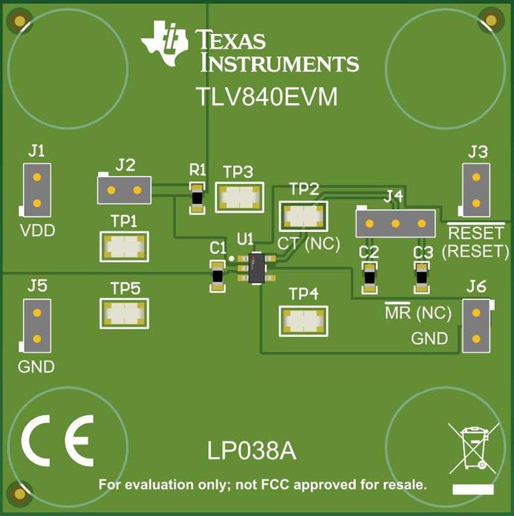 The TLV840 Evaluation Module
