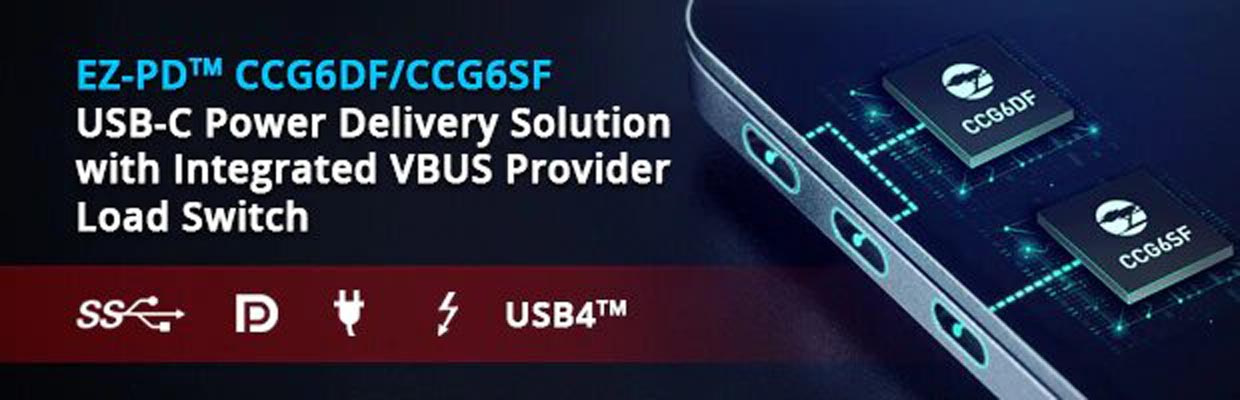 Cypress Introduces Sixth Generation USB-C Controllers