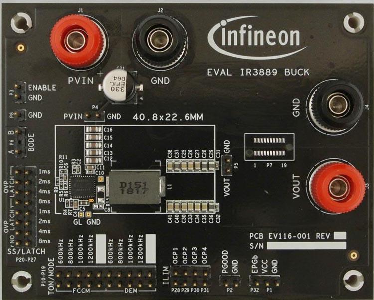 Оценочная плата для микросхемы IR3889
