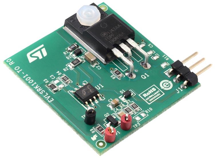 Оценочная плата адаптивного контроллера синхронного выпрямителя на основе SRK1001 для демонстрационной платы обратноходового преобразователя