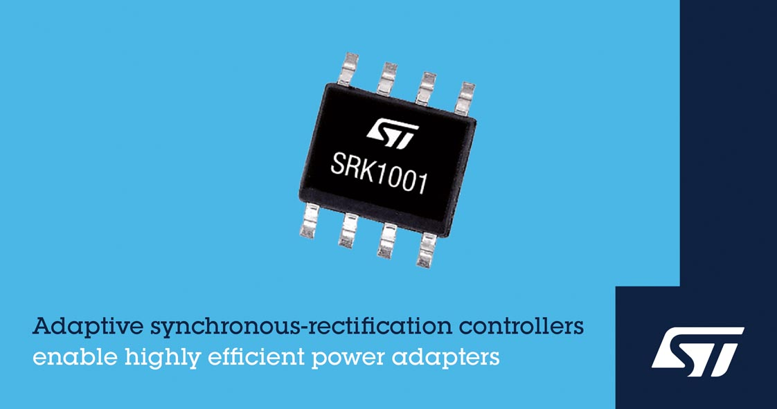 STMicroelectronics Reveals Innovative Synchronous-Rectification Controller Affordable