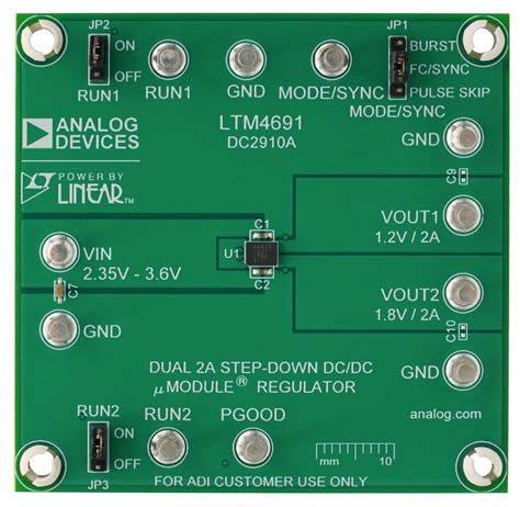 Демонстрационная схема 2910A для микромодуля LTM4691