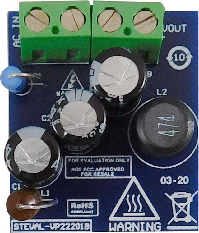 Оценочная плата VP22201B понижающего преобразователя 5 В/360 мА на основе VIPer222XSTR