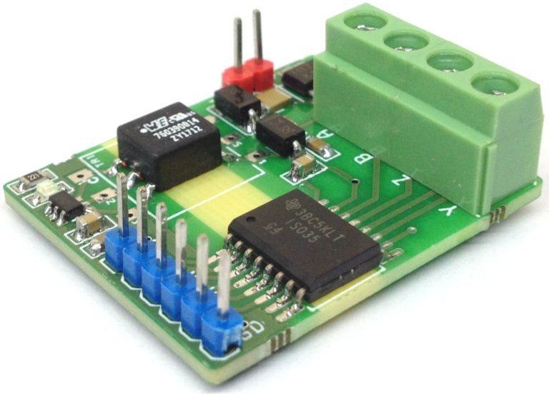 Модуль изолированного полнодуплексного приемопередатчика RS485.