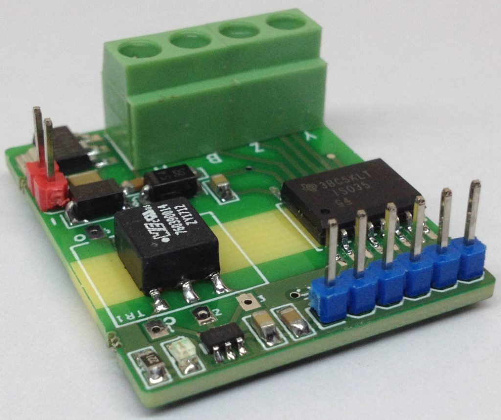 PCB for Isolated Full-Duplex RS-485 Transceiver.