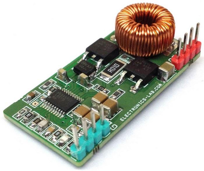 Модуль мощного понижающего DC-DC преобразователя 5 В/7 А на микросхеме LM5116