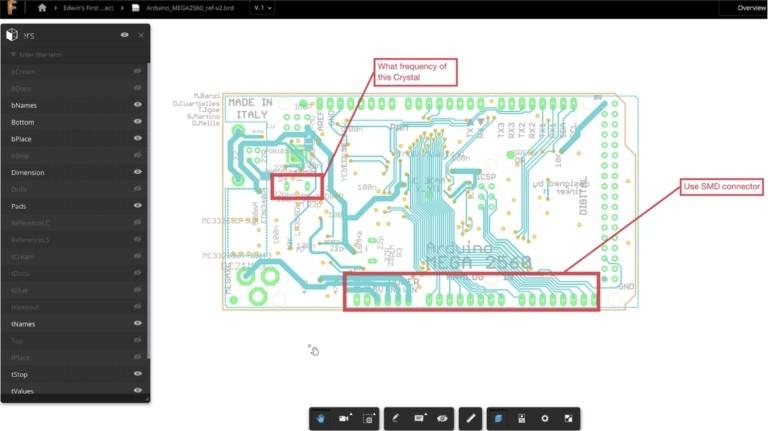 Благодаря функции Fusion Team разработчики смогут вносить комментарии и аннотации в проектные файлы САПР Eagle.