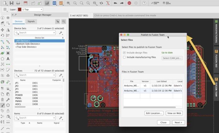 Eagle 9.3: Добавление проектных файлов в Fusion Team.
