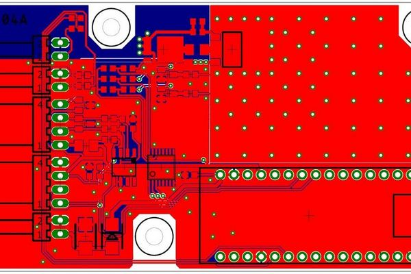 Milliohmmeter PCB designed with Eagle.