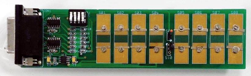 Плата матрицы электронного носа из восьми датчиков