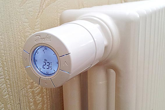 Радиаторный термостат с программным управлением.