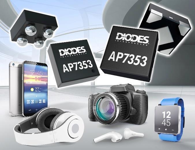 Diodes анонсировала миниатюрный LDO регулятор для приложений, чувствительных к шумам