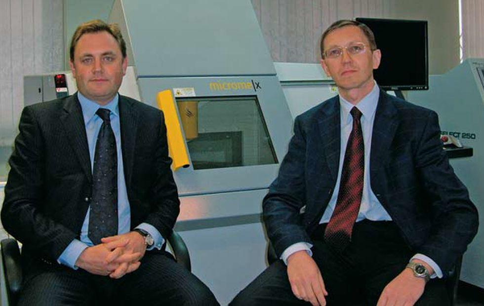 Основатели ОСТЕК Вадим Вениаминович Гаршин (слева) и Александр Геннадьевич Разоренов.