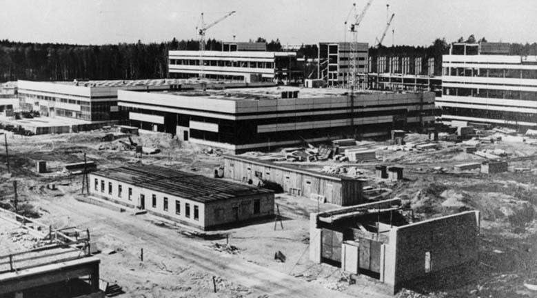 Строительство ЭЗАН в 1974 г.