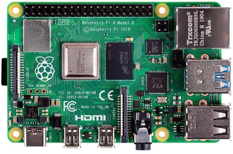 Raspberry Pi4 ModelB с объемом оперативной памяти 8Гбайт