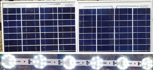 20-ваттная солнечная дневная лампа с активным ограничением тока, готовая к использованию.