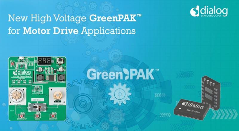 Dialog выпускает первую высоковольтную микросхему GreenPAK для приложений управления двигателями