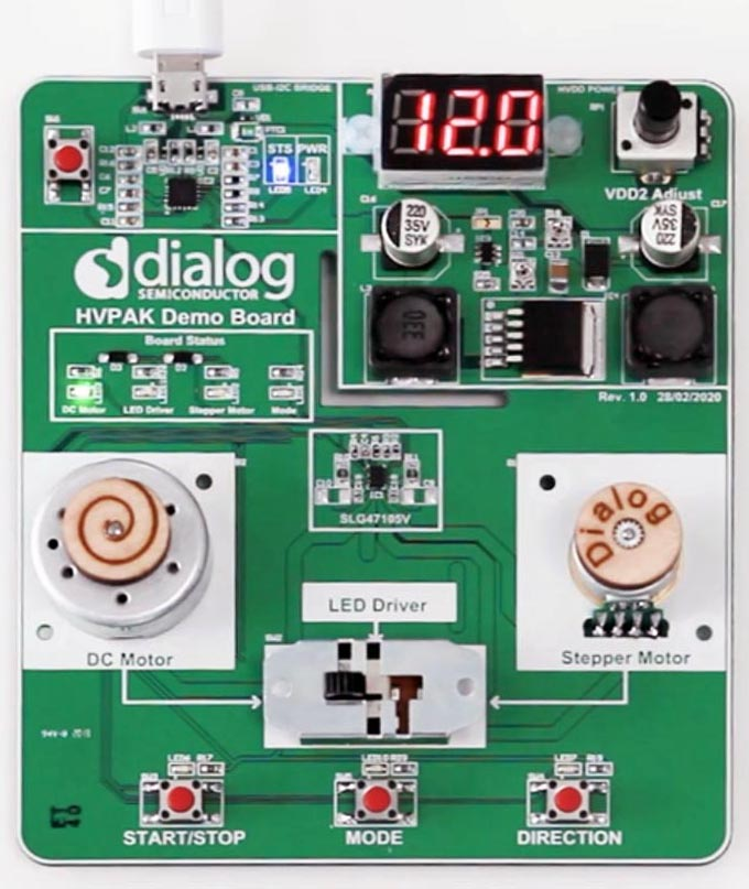 The SLG47105V Evaluation Board