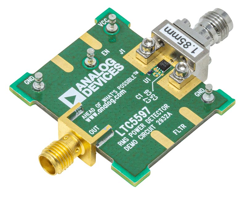 Demonstration Circuit 2932A - a High Accuracy RMS Power Detector Featuring the LTC5597 IC