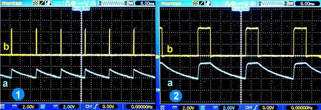 Оптическая обратная связь: 2.1 - разомкнута, 2.2 - замкнута.