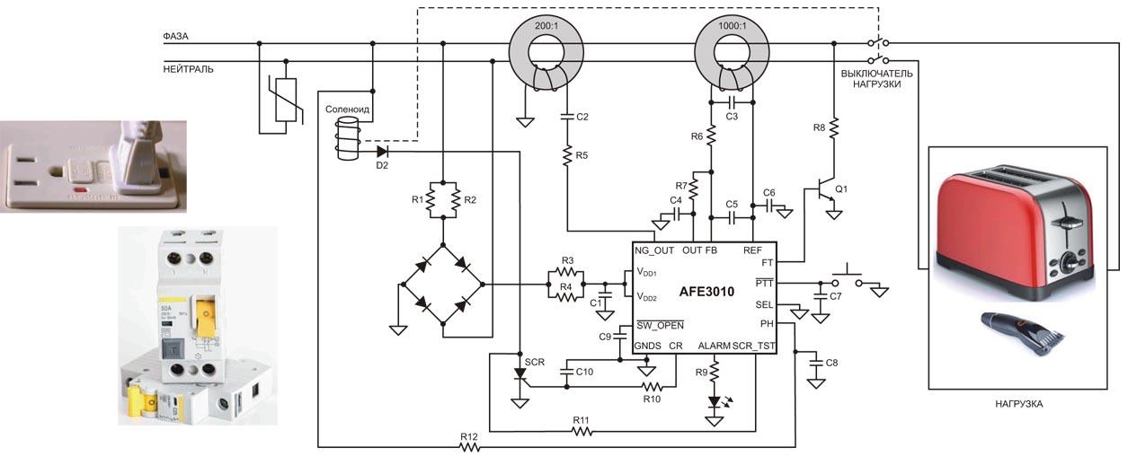 Использование AFE3010 в схеме ВКЗЗ