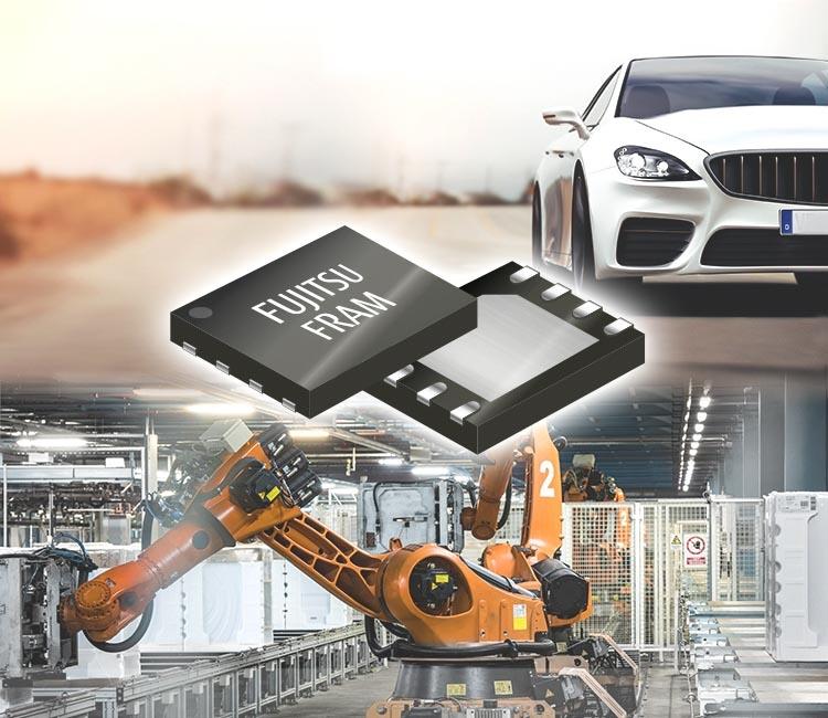 Fujitsu начинает производство 4-мегабитной микросхемы FRAM с гарантированной рабочей температурой до 125°C