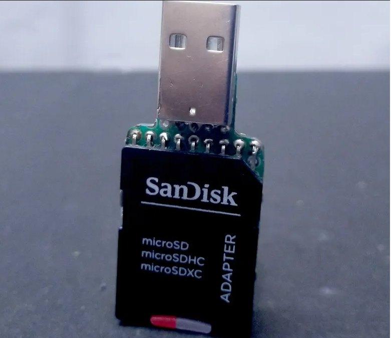 Адаптер для microSD карт памяти c Wi-Fi интерфейсом на ESP8266.