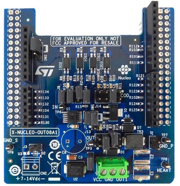 Industrial digital output expansion board based on IPS160HF for STM32 Nucleo