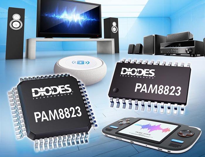 Diodes анонсирует цифровой аудио усилитель с эквалайзером и управлением динамическим диапазоном