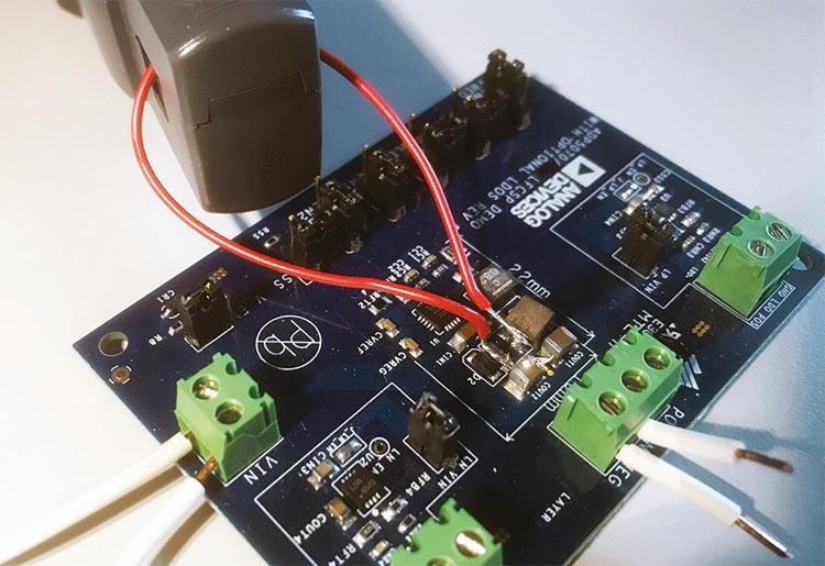 Практическая организация измерения тока дросселя.