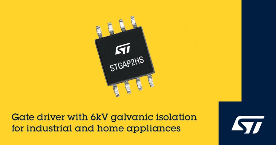 STMicroelectronics Introduces High-Voltage Gate Driver 6kV
