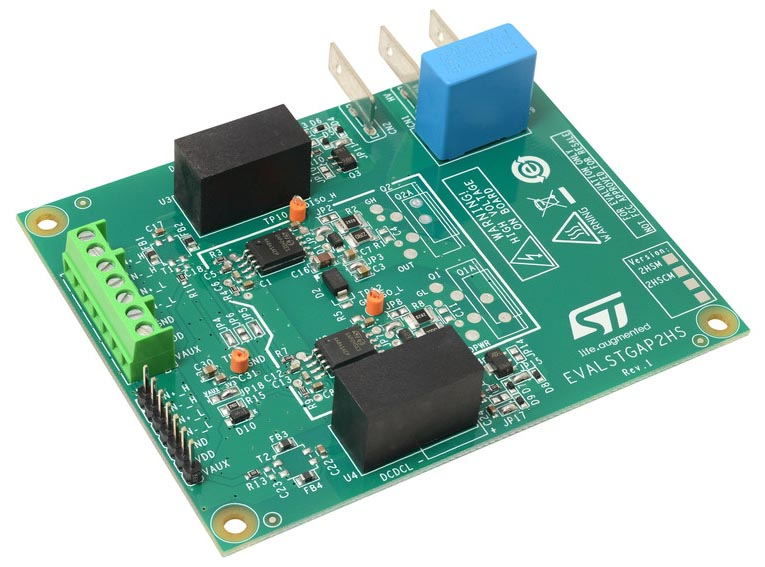 Demonstration board for STGAP2HSCM isolated 4 A single gate driver