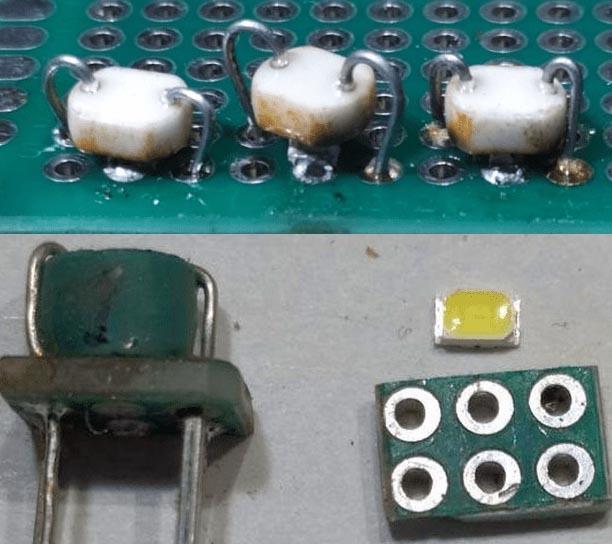 Конструкция самодельного оптрона.