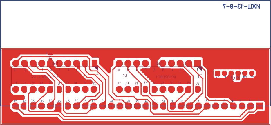 Разводка и фотографии платы ЖКИ для схемы Рисунок 1. (а), (б) - вид с  лицевой стороны ЖКИ; (в), (г) - вид с обратной стороны.