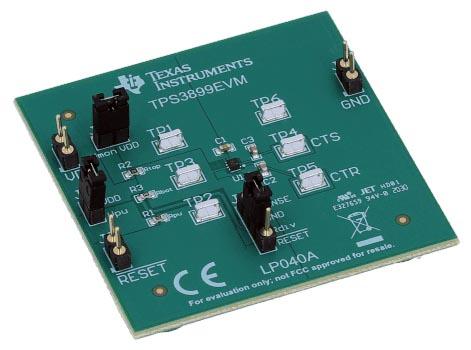TPS3899EVM TPS3899 Nanopower Supervisor Evaluation Module Board
