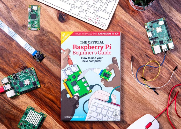 The Raspberry Pi 400 comes with the Raspberry Pi Beginner's Guide.