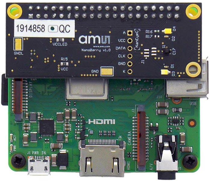 Оценочный набор NanoBerry для модуля NanEyeC