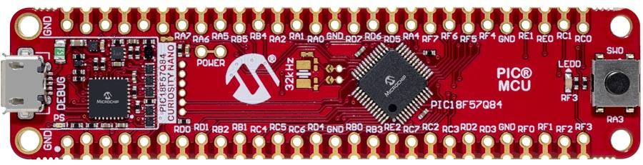 Оценочный набор Curiosity Nano (DM182030) для микроконтроллера PIC18F57Q84
